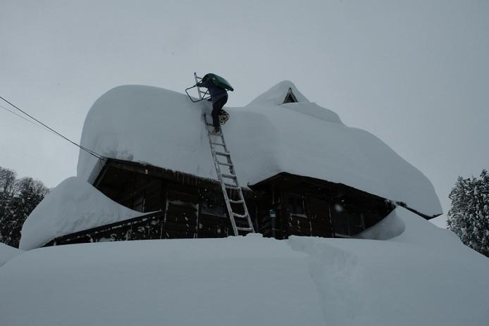 初めての雪下ろし